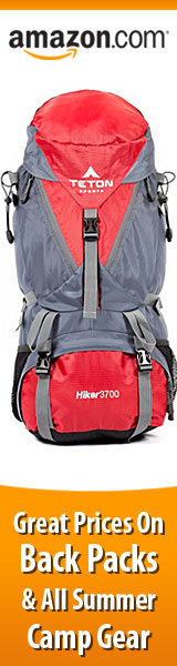 Lowest Prices Today on Back Packs for Hiking and All Summer Camp Gear